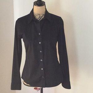 Banana Republic black fitted button down shirt 4